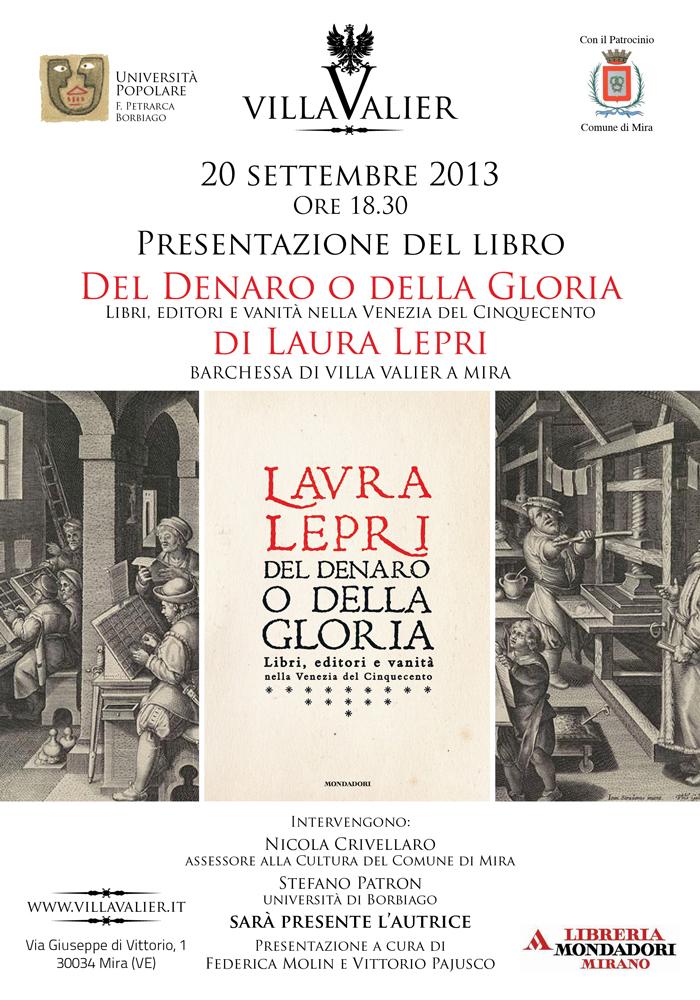 Locandina presentazione Mira - Villa Valier