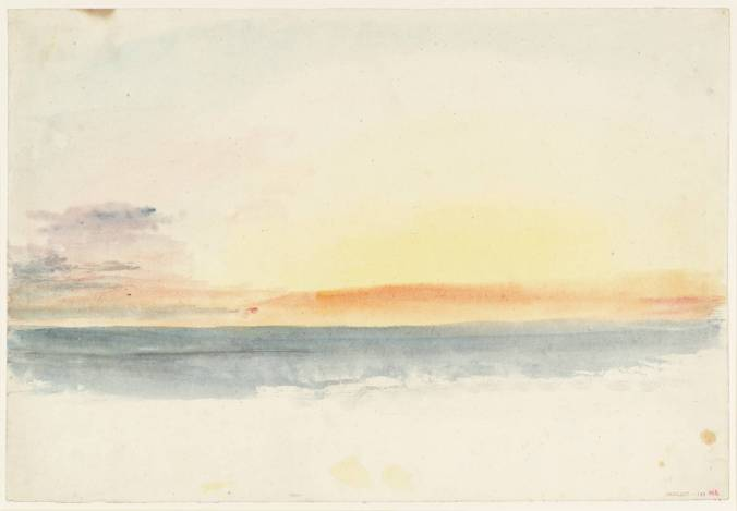 Sea: Morning after circa 1830 Joseph Mallord William Turner 1775-1851 Accepted by the nation as part of the Turner Bequest 1856 http://www.tate.org.uk/art/work/D35985